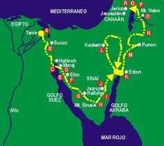 Resultado de imagen de dibujar la ruta del éxodo