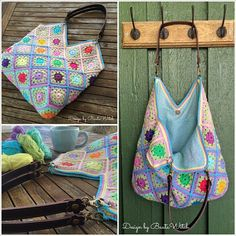 Tadaa!  My Happy Bag is probably the nicest bag I crochet o designed.  T if väskhandtagen in real leather is custom made.   Now you can crochet a same day!  Free pattern in the blog from today o materialkit in the shop!   #virka #virkning # bag #diy #bautawitch Page 1 of 4