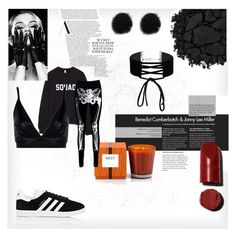 """""""Halloween party"""" by lucifuk on Polyvore featuring Nest Fragrances, Urban Decay, Miss Selfridge, Boohoo and adidas"""