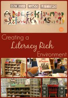 Creating a Literacy Rich Environment - Fairy Dust Teaching Preschool Curriculum, Kindergarten Literacy, Preschool Classroom, Literacy Activities, Literacy Centers, Early Literacy, Emergent Literacy, Preschool Ideas, Teaching Ideas