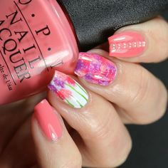 Fun #Spring #nailart using polishes from the #OPINewOrleans Collection @opiproducts #OPI #nails