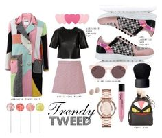 """Trendy Tweed Pink Love"" by iarda ❤ liked on Polyvore featuring Karl Lagerfeld, Moschino, Gucci, T By Alexander Wang, Christian Dior, NARS Cosmetics, Fendi, NYX, Marc by Marc Jacobs and Links of London"