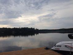 Great night in Muskoka! Mirror effect on Leech Lake