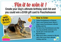 Remember, you must be a member of Pinterest.com to enter, and you must be following Poochieheaven's Pinterest boards. This contest ends on Thursday, February 28, 2013 at 11:59 p.m. (CST) Good luck and have fun!      See this link for more details and rules- http://www.poochieheaven.com/blog/2013/02/pin-win-contest      #poochieheaven