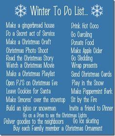 Winter/Christmas To Do List