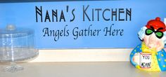 Wall Art Decal Vinyl Nana's Kitchen, Custom Life Love Family quotes home decor vinyl lettering decal kitchen