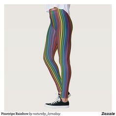 Pinstripe Rainbow Leggings