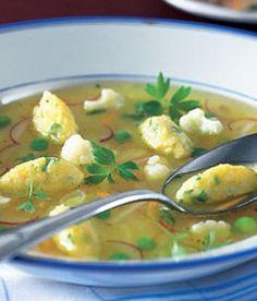Sýrové noky do polévky