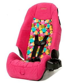 "Cosco High Back Booster Car Seat, Lottie Dottie. Forward-facing for a child 22-40 lbs and 34-43"" tall. Belt-positioning booster for a child 40-80 lbs and 43-52"" tall. 5-point harness with center front adjust;. 2-position shoulder belt guides. LATCH-equipped for easy installation."