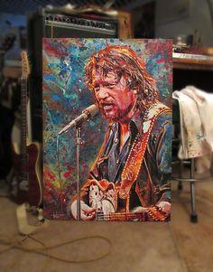 Waylon Jennings, 3 Arts, My Eyes, Vibrant Colors, Toms, Abstract, Prints, Painting, Summary