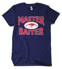 (Cybertela) Master Baiter Mens T-shirt Funny Fishing Tee (Navy Blue X-Large)