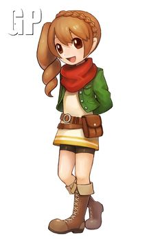 Harvest Moon: Skytree Village - two more pieces of character art