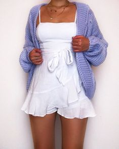Cute Skirt Outfits, Cute Comfy Outfits, Pretty Outfits, Cute Dresses, Casual Dresses, Teenage Outfits, Girl Outfits, Fashion Outfits, Lounge Outfit