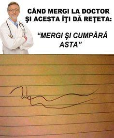 Mereu mă întreb cum înţeleg farmaciştii reţetele...  #medicina #doctor #memeinromana Haha Funny, Funny Memes, Jokes, Funny Stuff, Cringe, Humor, My Love, Quizes, Funny Things