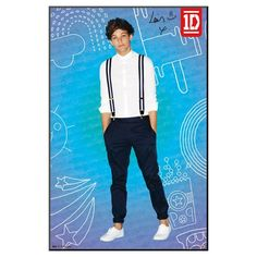 Art.com 1D Louis Pop Framed Poster, Blue