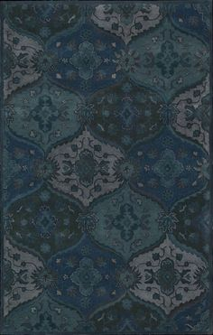 Pinned from RugLots - Nourison // India House Transitional Denim Trellis Rug (IH88)
