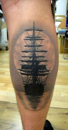 ship tattoo more tattoo ideas ship tattoos moon tattoo nautical tattoo . Tattoos 3d, Mädchen Tattoo, Sunset Tattoos, Unique Tattoos, Beautiful Tattoos, Body Art Tattoos, Tattoo Flash, Tattoo Ship, Arrow Tattoos