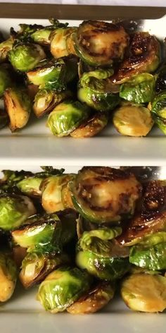 The best Brussels sprouts, caramelized with honey and Dijon mustard, in one pan, on the stovetop. #thehungrybluebird #bestbrusselssprouts #brusselssprouts #vegetableside #sidedish #recipevideo