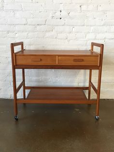 Danish Modern Teak Bar Cart by BendModern on Etsy https://www.etsy.com/listing/511683571/danish-modern-teak-bar-cart