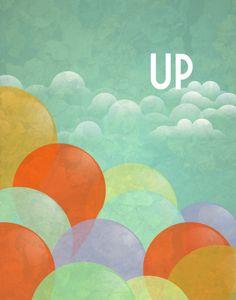 Print Up  - 11x14 Poster wall art decor poster movie pixar disney balloons. $27.00, via Etsy.