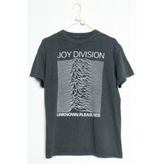 Joy Division Tee ($31) ❤ liked on Polyvore featuring tops, t-shirts, graphic t shirts, distressed graphic tee, oversized graphic tee, graphic tees and distressed tees