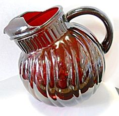 Anchor Hocking Royal Ruby Swirl Pitcher. Click on the image for more information.
