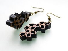 organic geometric earrings  Bamboo Irregular by ArchetypeZ on Etsy, $21.00