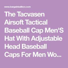 a63973d9d3f Tacvasen Airsoft Tactical Baseball Cap Men S Hat With Adjustable Head  Baseball