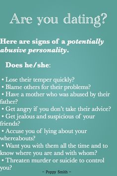 Dating abuse signs