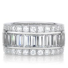 Sterling Silver Eternity Band CZ Ring