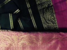 Stunning Black Pure Zari Nalini Kanchipuram Veldhari Saree