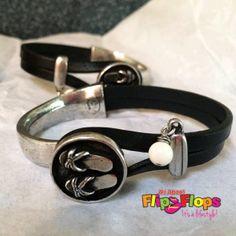 Flip-Flop-Leather-Bracelet-Black
