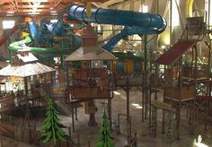 I wasn't sure if Great Wolf Lodge with toddlers would be any fun - my fear was that it would be to big and busy for a 2-year-old. But with a waterslide-loving husband, we figured it was worth a try!