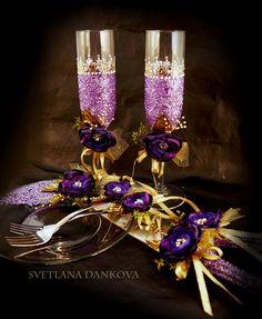 #wedding #champagne #flutes