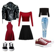 """""""Untitled #3"""" by s-costantini on Polyvore featuring Leka, Boohoo, River Island, Converse and Alexander McQueen"""