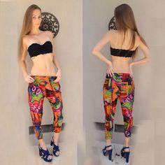 Colorful harlem pants tribal design
