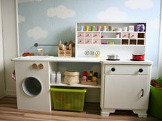 Says play kitchen but I see this and thing play laundry room