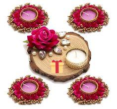 Diya Decoration Ideas, Diwali Decoration Items, Diwali Diya, Candle Holder Decor, Diy Home Crafts, Ribbon, Candles, Album, Wall