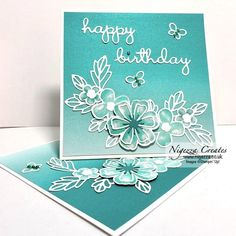 """Nigezza Creates on Instagram: """"Love this twisted easel card, love the FREE DSP #ohsoombre last day to get this free, so don't miss out #prettyperennials  #SAB #stampinup…"""""""