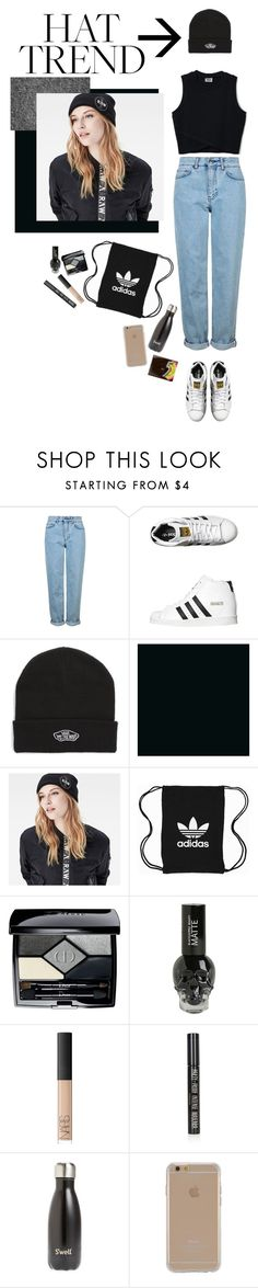 """""""× beanie ×"""" by black4ever ❤ liked on Polyvore featuring Topshop, adidas Originals, Vans, G-Star Raw, Christian Dior, NARS Cosmetics, S'well, Agent 18, contest and beanie"""