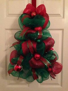 Christmas Tree Deco Mesh Wreath