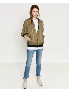 Zara reversible olive green bomber jacket