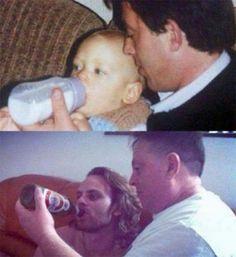 Se fotografían exactamente como en la niñez