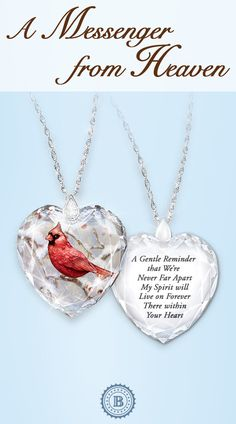 Honor the memory of a special loved one with this meaningful crystal pendant. The peaceful cardinal provides a gentle reminder that your beloved is always near. Pet Loss Grief, Images Wallpaper, Angels In Heaven, Daughter Of God, Before Us, In Loving Memory, Love Messages, Crystal Pendant, Inspirational Quotes