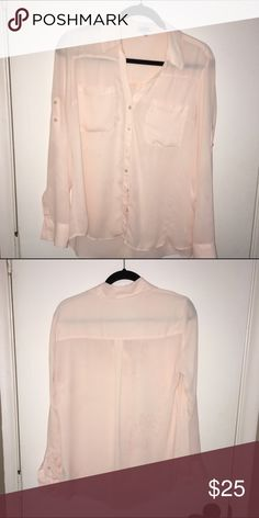 Express Portofino peach shirt Like new without tags (got it as a gift and never wore it). Soft peach version of the classic Portofino shirt! Express Tops Button Down Shirts