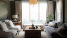 Lauren Liess - Clients' Living Room Before & After one of my favorite designers to watch!