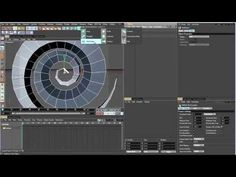 C4D Tutorial How To Create Blue Spiral Array - YouTube