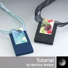"Polymer Clay PDF Tutorial ""Night Garden Pendant"""