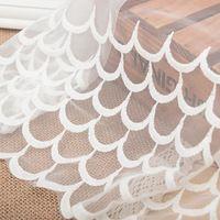Бесплатная доставка 24 см wide-5 ярдов/серия Белый Вышитые Тюль Кружевной Отделкой ткань для платья-ZQ