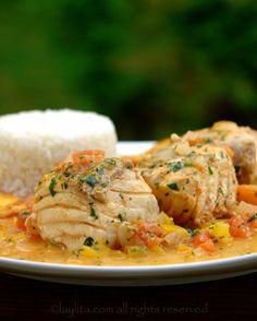 Pescado encocado or fish with coconut sauce - Laylita's Recipes